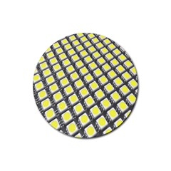 Wafer Size Figure Rubber Coaster (round)