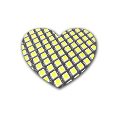 Wafer Size Figure Rubber Coaster (heart)