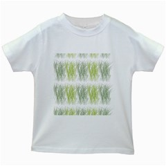 Weeds Grass Green Yellow Leaf Kids White T Shirts