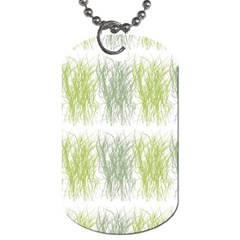 Weeds Grass Green Yellow Leaf Dog Tag (one Side)