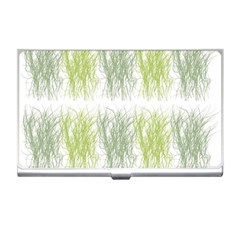 Weeds Grass Green Yellow Leaf Business Card Holders