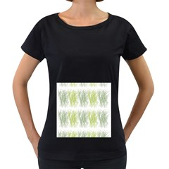 Weeds Grass Green Yellow Leaf Women s Loose Fit T Shirt (black)
