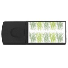 Weeds Grass Green Yellow Leaf Rectangular Usb Flash Drive
