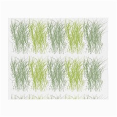 Weeds Grass Green Yellow Leaf Small Glasses Cloth (2 Side)