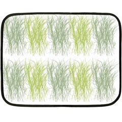Weeds Grass Green Yellow Leaf Fleece Blanket (mini)