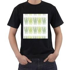 Weeds Grass Green Yellow Leaf Men s T Shirt (black)