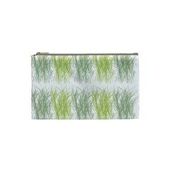 Weeds Grass Green Yellow Leaf Cosmetic Bag (small)