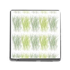 Weeds Grass Green Yellow Leaf Memory Card Reader (square)