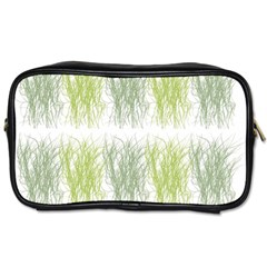 Weeds Grass Green Yellow Leaf Toiletries Bags