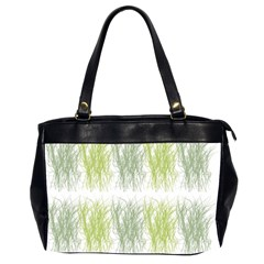 Weeds Grass Green Yellow Leaf Office Handbags (2 Sides)
