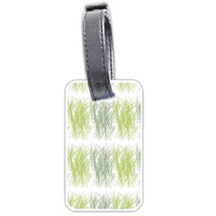 Weeds Grass Green Yellow Leaf Luggage Tags (one Side)