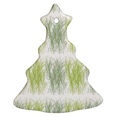 Weeds Grass Green Yellow Leaf Christmas Tree Ornament (two Sides)