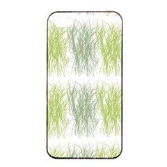 Weeds Grass Green Yellow Leaf Apple Iphone 4/4s Seamless Case (black)