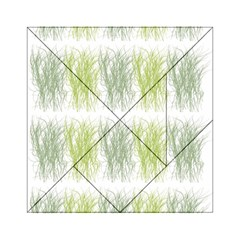 Weeds Grass Green Yellow Leaf Acrylic Tangram Puzzle (6  X 6 )