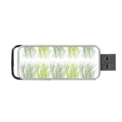 Weeds Grass Green Yellow Leaf Portable Usb Flash (two Sides)