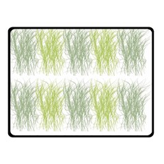 Weeds Grass Green Yellow Leaf Double Sided Fleece Blanket (small)