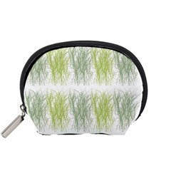 Weeds Grass Green Yellow Leaf Accessory Pouches (small)
