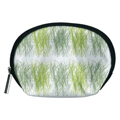 Weeds Grass Green Yellow Leaf Accessory Pouches (medium)