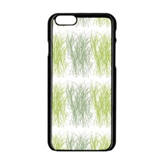 Weeds Grass Green Yellow Leaf Apple Iphone 6/6s Black Enamel Case