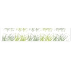 Weeds Grass Green Yellow Leaf Flano Scarf (large)