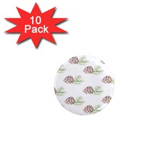 Pinecone Pattern 1  Mini Magnet (10 Pack)
