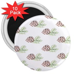 Pinecone Pattern 3  Magnets (10 Pack)