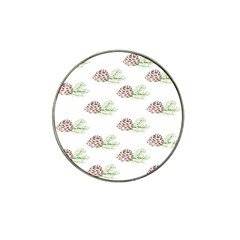 Pinecone Pattern Hat Clip Ball Marker (4 Pack)