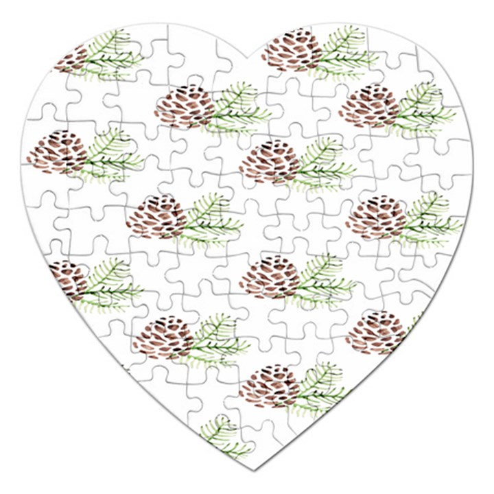 Pinecone Pattern Jigsaw Puzzle (Heart)