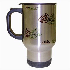 Pinecone Pattern Travel Mug (silver Gray)