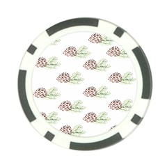 Pinecone Pattern Poker Chip Card Guard (10 Pack)