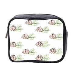 Pinecone Pattern Mini Toiletries Bag 2 Side
