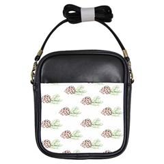 Pinecone Pattern Girls Sling Bags
