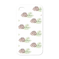 Pinecone Pattern Apple Iphone 4 Case (white)