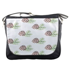 Pinecone Pattern Messenger Bags