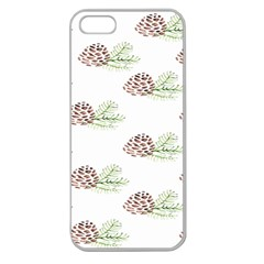 Pinecone Pattern Apple Seamless Iphone 5 Case (clear)