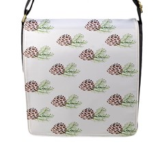 Pinecone Pattern Flap Messenger Bag (l)
