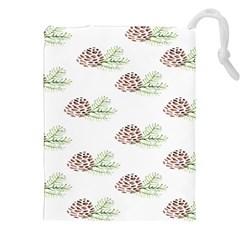 Pinecone Pattern Drawstring Pouches (xxl)