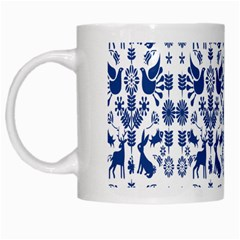 Rabbits Deer Birds Fish Flowers Floral Star Blue White Sexy Animals White Mugs