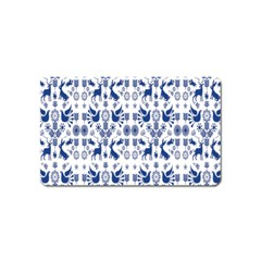 Rabbits Deer Birds Fish Flowers Floral Star Blue White Sexy Animals Magnet (name Card)