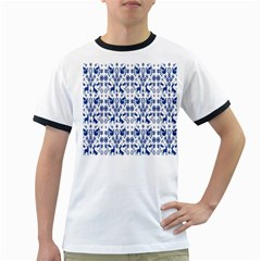 Rabbits Deer Birds Fish Flowers Floral Star Blue White Sexy Animals Ringer T Shirts