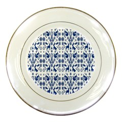 Rabbits Deer Birds Fish Flowers Floral Star Blue White Sexy Animals Porcelain Plates