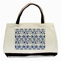 Rabbits Deer Birds Fish Flowers Floral Star Blue White Sexy Animals Basic Tote Bag