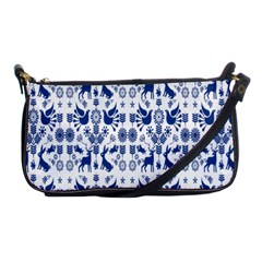 Rabbits Deer Birds Fish Flowers Floral Star Blue White Sexy Animals Shoulder Clutch Bags