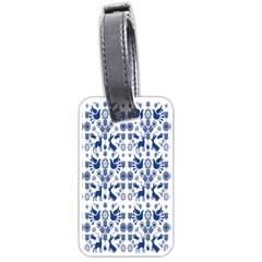 Rabbits Deer Birds Fish Flowers Floral Star Blue White Sexy Animals Luggage Tags (one Side)