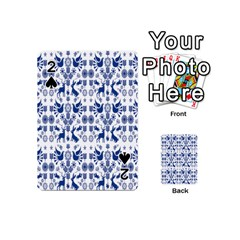 Rabbits Deer Birds Fish Flowers Floral Star Blue White Sexy Animals Playing Cards 54 (mini)
