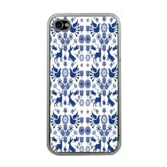 Rabbits Deer Birds Fish Flowers Floral Star Blue White Sexy Animals Apple Iphone 4 Case (clear)