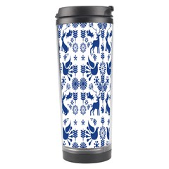 Rabbits Deer Birds Fish Flowers Floral Star Blue White Sexy Animals Travel Tumbler
