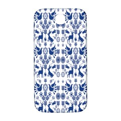 Rabbits Deer Birds Fish Flowers Floral Star Blue White Sexy Animals Samsung Galaxy S4 I9500/i9505  Hardshell Back Case