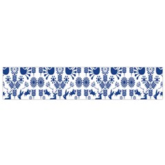 Rabbits Deer Birds Fish Flowers Floral Star Blue White Sexy Animals Flano Scarf (small)