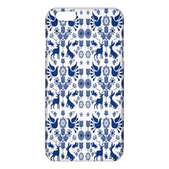 Rabbits Deer Birds Fish Flowers Floral Star Blue White Sexy Animals Iphone 6 Plus/6s Plus Tpu Case